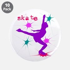 "Axelent Ice Skating 3.5"" Button (10 pack)"