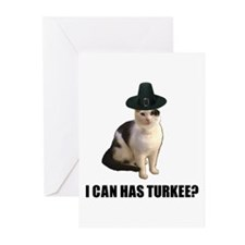 Can has turkee Greeting Cards (Pk of 10)