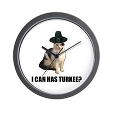 Can has turkee Wall Clock