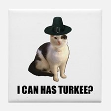Can has turkee Tile Coaster