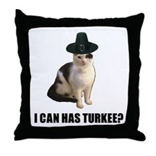 Can has turkee Throw Pillow