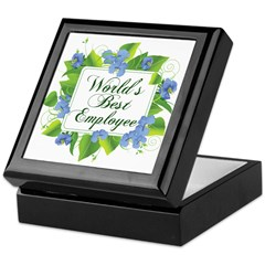 World's Best Employee Keepsake Box