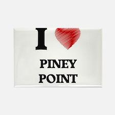 I love Piney Point Massachusetts Magnets