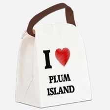 I love Plum Island Massachusetts Canvas Lunch Bag