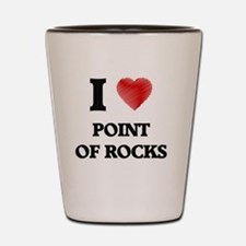 Cute I throw rocks houses Shot Glass
