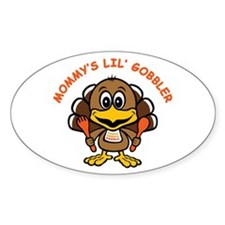 Mommy's Lil' Gobbler Oval Decal