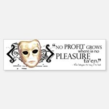 Shakespeare Taming of the Shrew Q Bumper Bumper Sticker