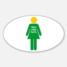 Irish girls rock Oval Decal