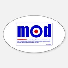 Quadraphenia... Oval Decal
