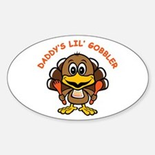 Daddy's Lil' Gobbler Oval Decal