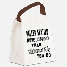 Roller Skating more awesome than Canvas Lunch Bag