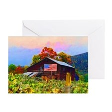 """American Flag on Barn"" Greeting Cards (Pkg. of 6)"
