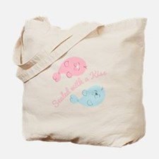 With A Kiss Tote Bag
