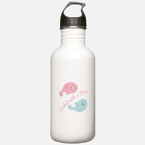 With A Kiss Water Bottle
