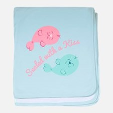 With A Kiss baby blanket