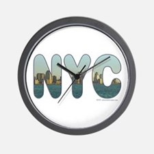 """NYC"" New York City Skyline Wall Clock"