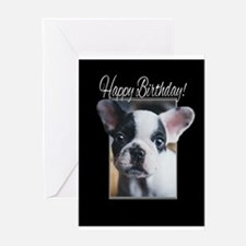 Happy Birthday French Bulldog Greeting Cards