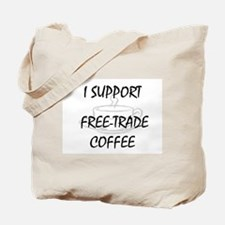 Support Free-Trade Coffee Tote Bag