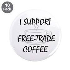 "Support Free-Trade Coffee 3.5"" Button (10 pack)"