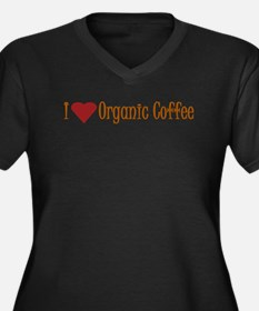 I (Heart) Organic Coffee (dar Women's Plus Size V-