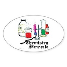 Chemistry Freak Oval Decal