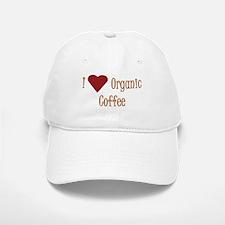 I (Heart) Organic Coffee Baseball Baseball Cap