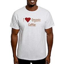 I (Heart) Organic Coffee T-Shirt