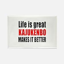 Kajukenbo Martial Arts Makes Life Rectangle Magnet