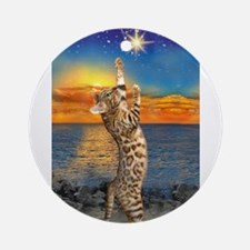 The Bengal Cat Round Ornament