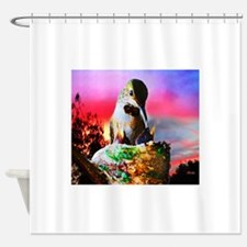 Hummingbird Mom and Babies Shower Curtain