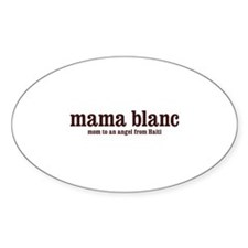 Mama Blanc Oval Decal