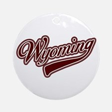 Wyoming Leather Ornament (Round)