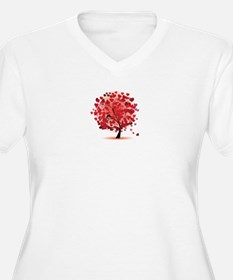 TREE OF HEARTS - VALENTINE Plus Size T-Shirt