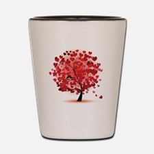 TREE OF HEARTS - VALENTINE Shot Glass