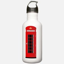 Cute British telephone booth Water Bottle