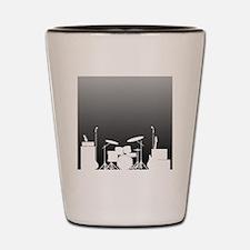Cute Rock band Shot Glass