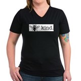 Be kind Womens V-Neck T-shirts (Dark)