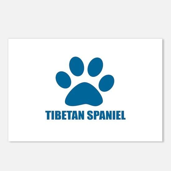 Tibetan Spaniel Dog Desig Postcards (Package of 8)