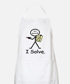 Crossword Puzzle Stick Figure Light Apron