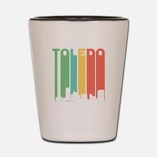 Vintage Toledo Cityscape Shot Glass