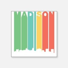 Vintage Madison Cityscape Sticker