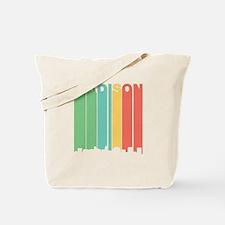 Vintage Madison Cityscape Tote Bag