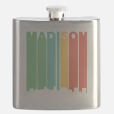 Vintage Madison Cityscape Flask