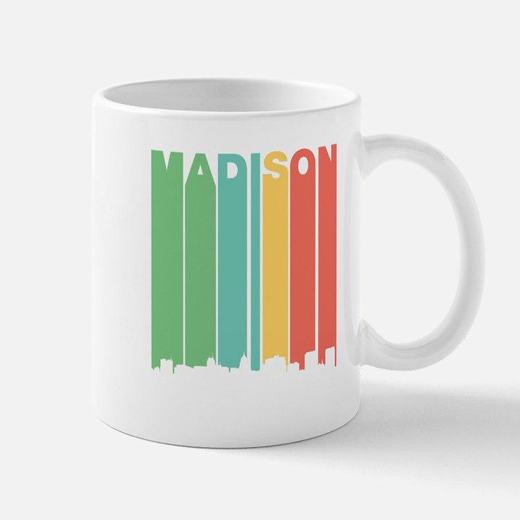Vintage Madison Cityscape Mugs