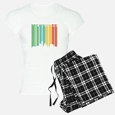 Vintage Milwaukee Cityscape Pajamas