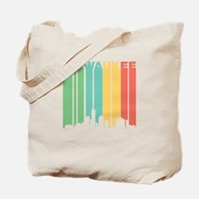 Vintage Milwaukee Cityscape Tote Bag