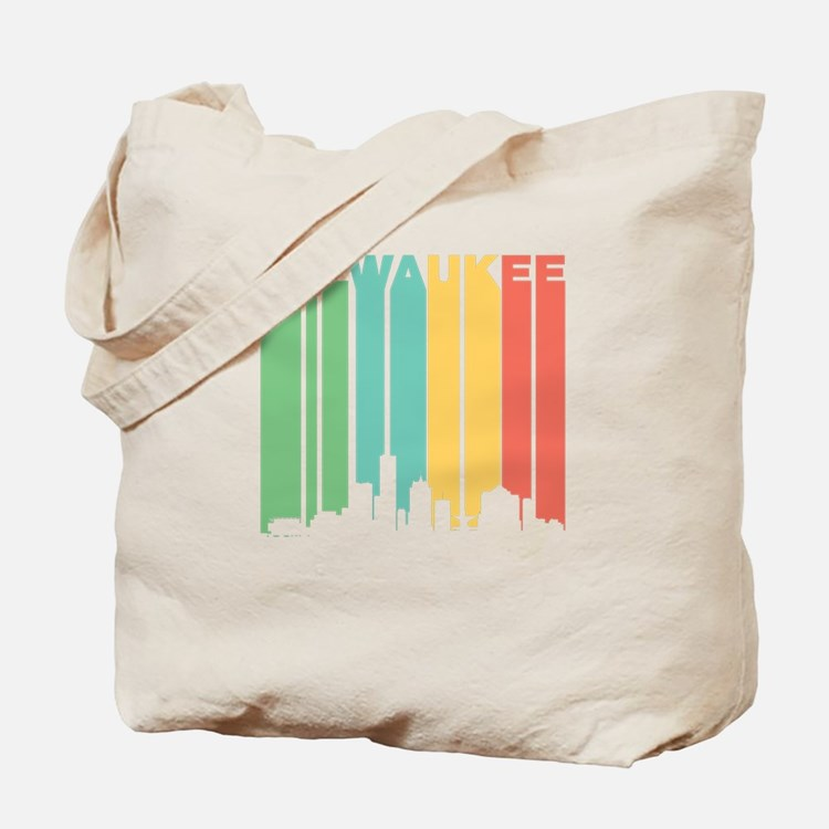 Vintage Milwaukee Cityscape Tote Bag
