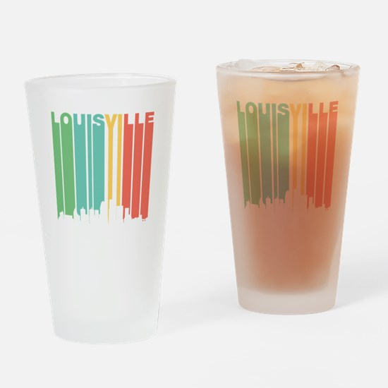 Vintage Louisville Cityscape Drinking Glass