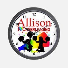CUSTOM CHEERING Wall Clock
