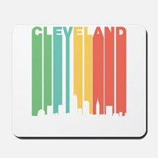 Vintage Cleveland Cityscape Mousepad